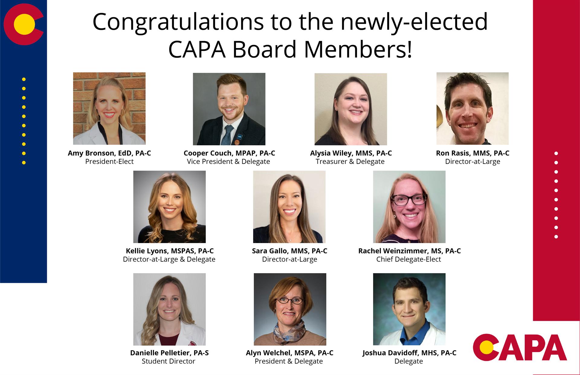 Newley-Elected CAPA Board Members